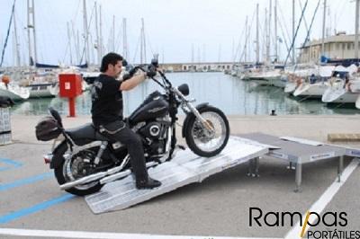 Mono Rampa RSL aluminio moto limpieza
