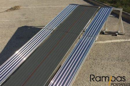 Rampas para fregadoras plegables sin bordes de 300 cm de largo